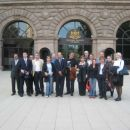 S sodelavci pred predsedniško palačo v Sofii