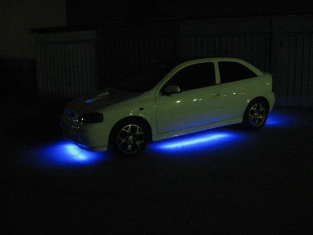 Osvetlitvev podvozja Opel Astra