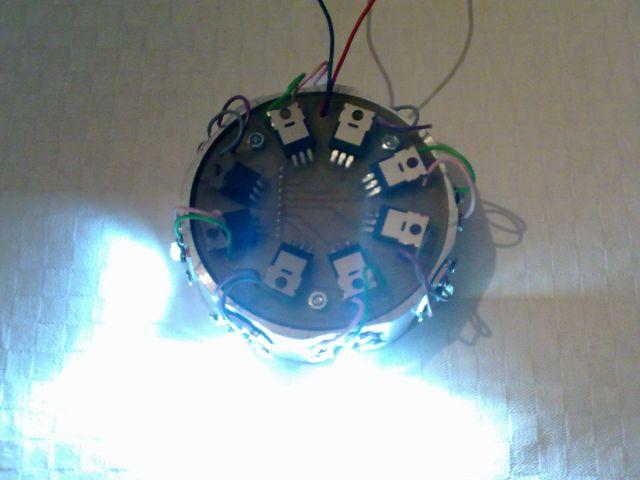 Rotacijska z belimi POWER LED 1W