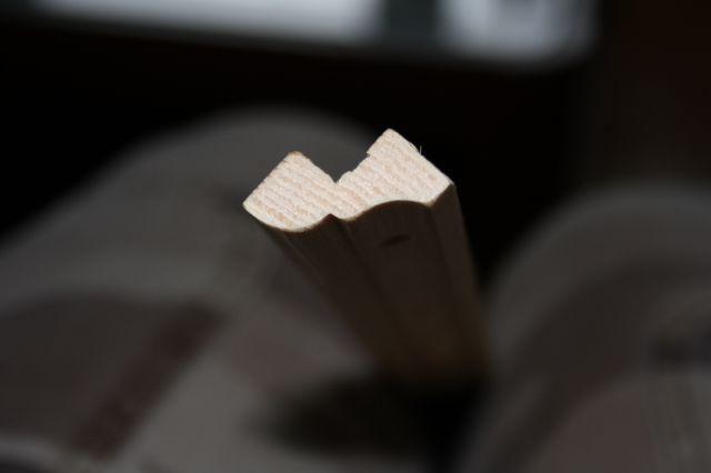 Letvica za namestitev na zadnji rob elementa