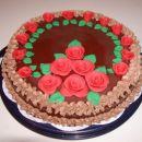 Pa še ena torta. Ja vem, nisem bila izvirna, a mi je ostala sladkorna masa od prejšnje tor