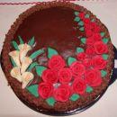 Čokoladna torta  s čokoladno kremo in čokoladno glazuro - poslastica za čokoholike ;-)