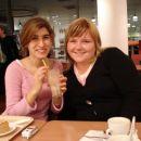 Jolanda in jaz na kavi v MarxSpencer-ju