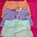 dekliške kratke hlače