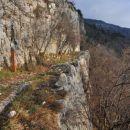 Napoleonova pot - Visoki zid
