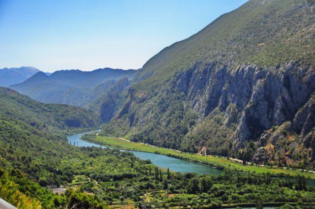 Omiš, kanjon Cetine - foto