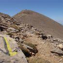 steza na Psiloritis najvišji vrh Krete v pogorju Ida 2456m