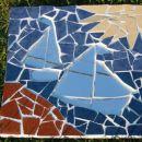 mozaik iz razbitih ploščic