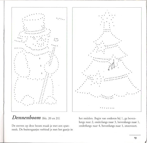 Vzorčki pickpoint - božični, novoletni - foto povečava