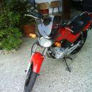 Yamaha YBR 125 in suzuki bandit 650