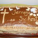 Pikina prva torta, za sveti krst svojega sinka Jerneja,BRAVO PIKA