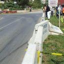 trk polota v zaščitno ogrado