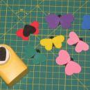 metuljčki, naštancani iz moosgume