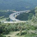 highway bridge in Črni Kal