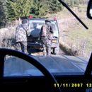 Slika iz pogleda voznika pri premiku proti sovražnikovem položaju.