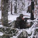 Eden od mnogih Čečenskih sniperjev je potrpežljivo čakal v zasedi na svojo tarčo.