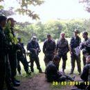Poročanje poveljnikov vodov po spopadu.