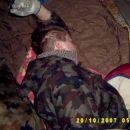 Mrazek v Jutranji komi preden sem ga zbudil z flešom... :)