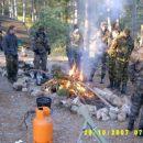 Bazni ogenj nas je grel v večernih in jutranjih urah!