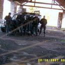 Slika izvidniške patrulje, ki je prečesala Poček z poveljniki odelkov.