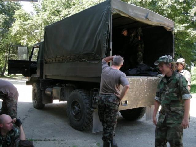 Kamion SV ki nas je tudi vozil po Pohorju.