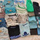 komplet kratkih majic in hlač 74/80