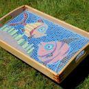pladenj z mozaiki RIBI