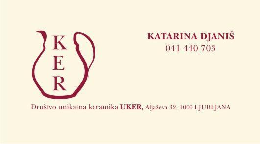 Logo in vizitka za društvo UKER
