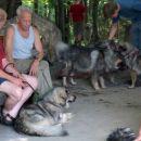 Čita in v ozadju Činč, Čajka in Lana
