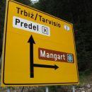 Odcep za Mangart, mi gremo