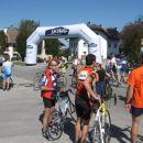 Pogled  na start po končanem maratonu