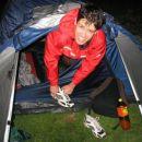 Anže zjutraj končno iz šotora